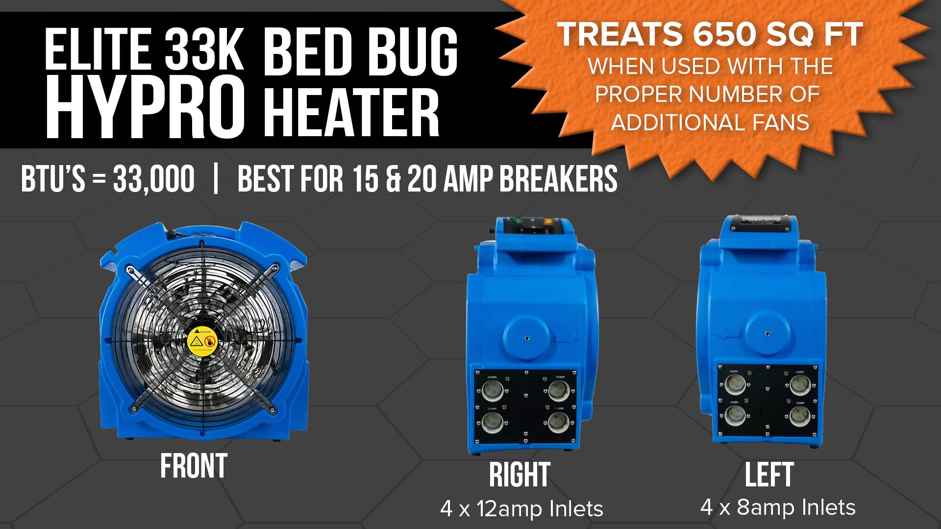 Elite 33K Bed Bug Heater Specs